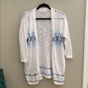 Gilly Hicks white open hole cardigan